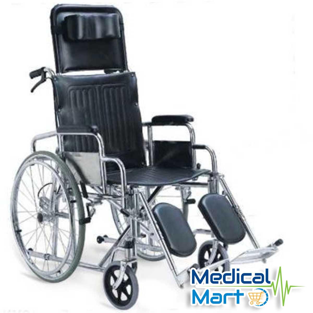 Reclining Steel Wheelchair