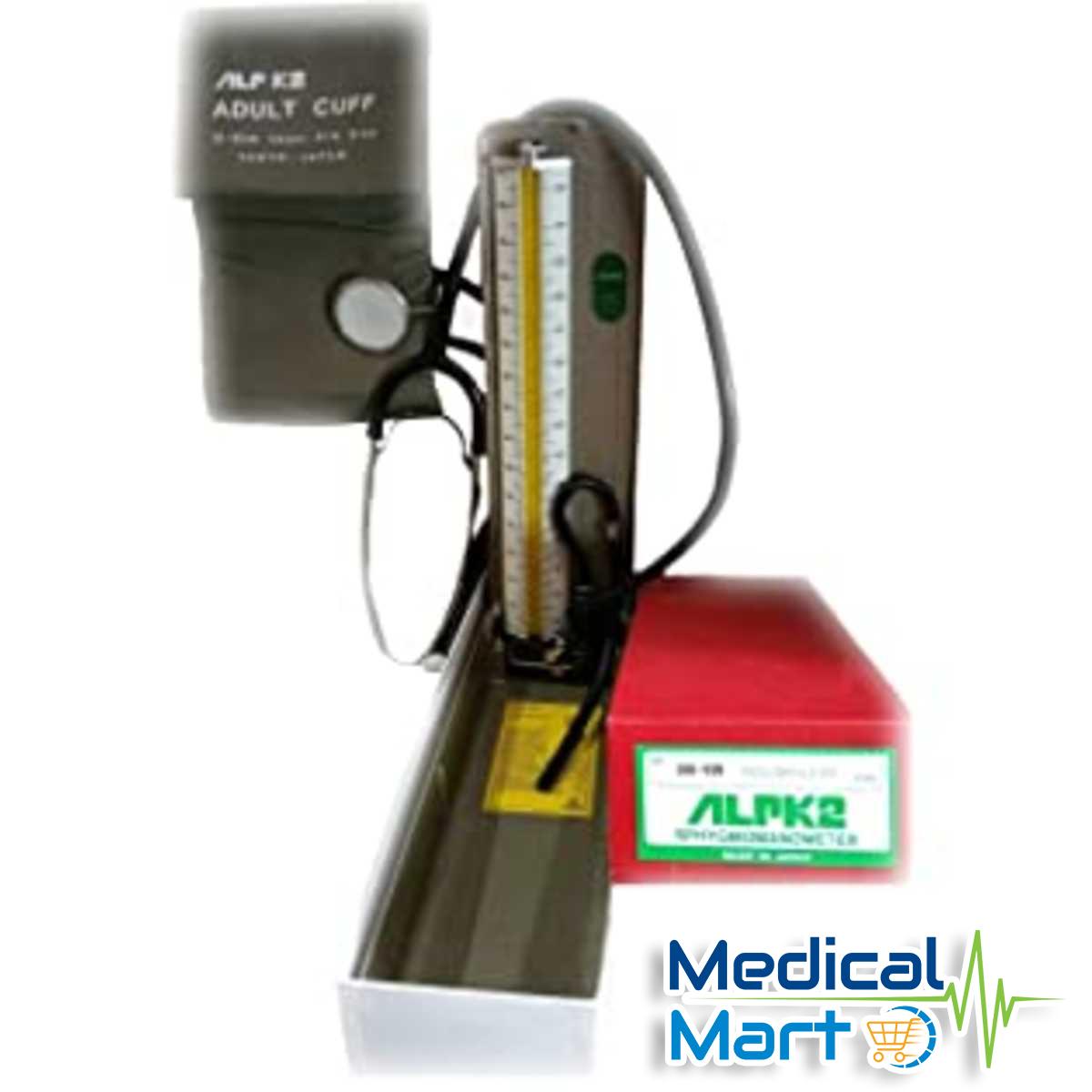 Mercurial Sphygmomanometer With Stethoscope