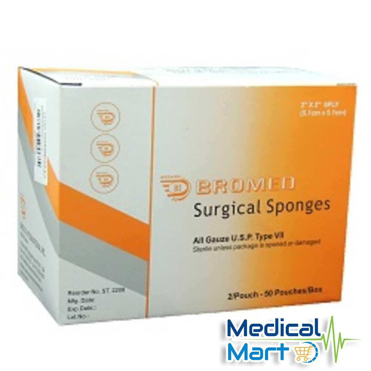 Sterile Surgical Sponges, 10.2cm x 10.2cm - 8ply