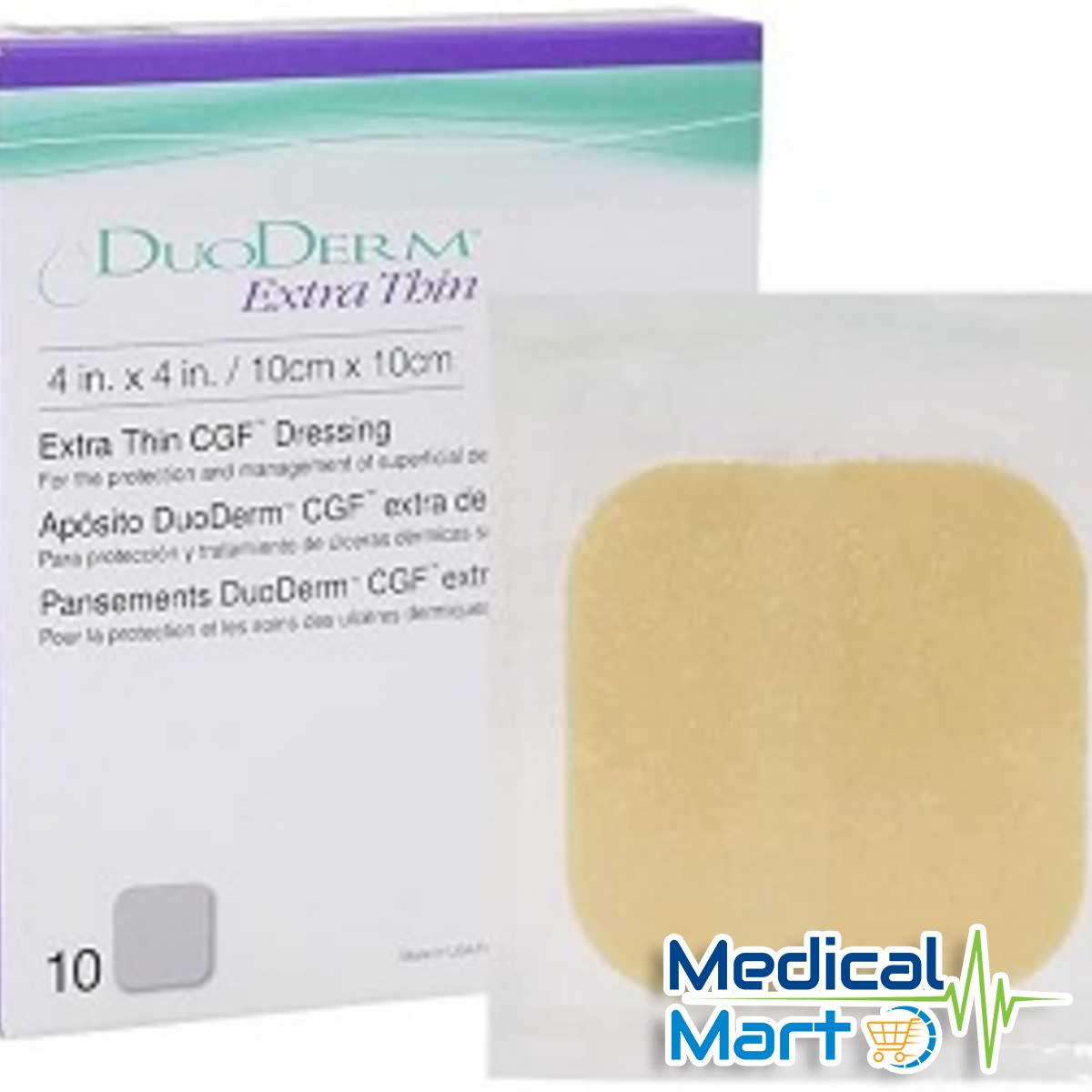 Duoderm Extra Thin Hydrocolloid Dressing, 10cm x 10cm