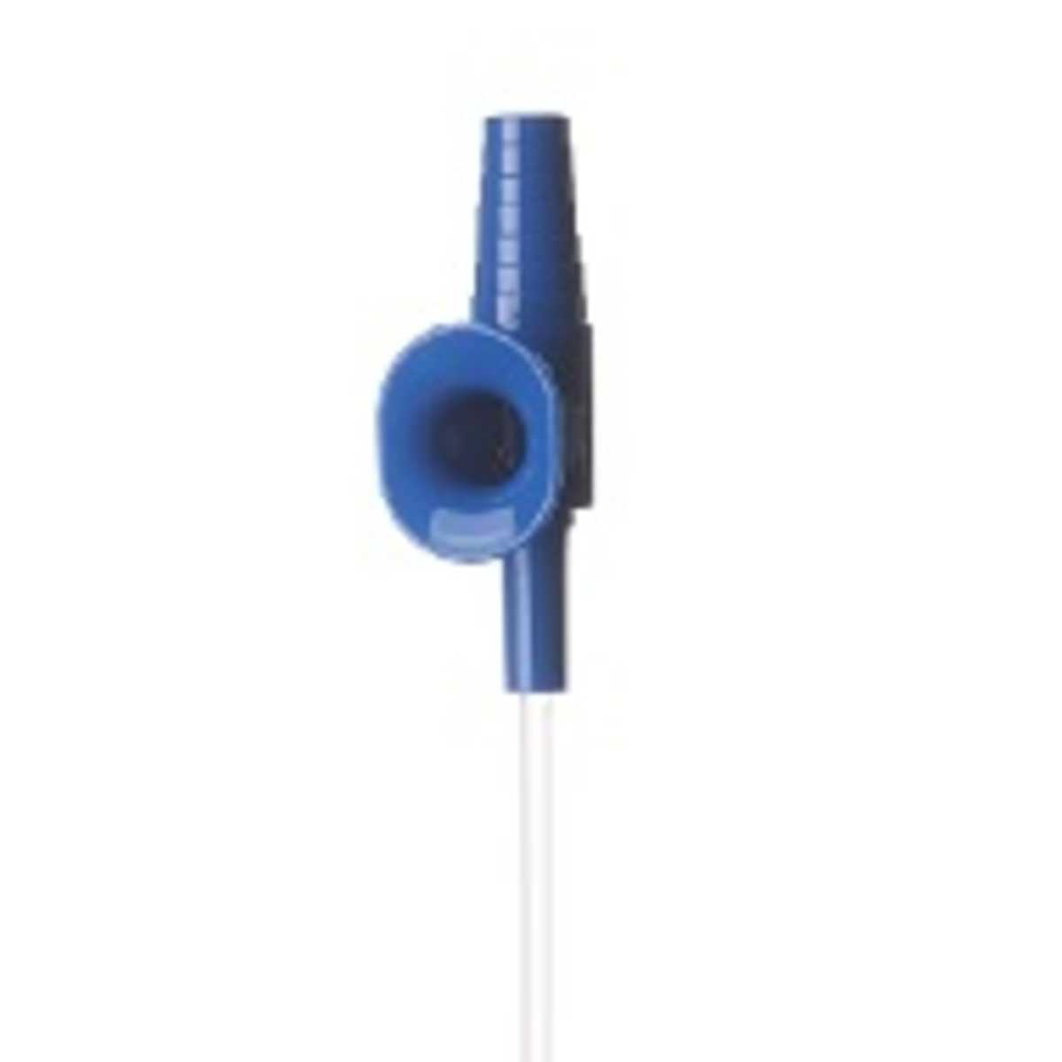 Suction Catheter With Vacuum Control Connector, Blue, Ch 8