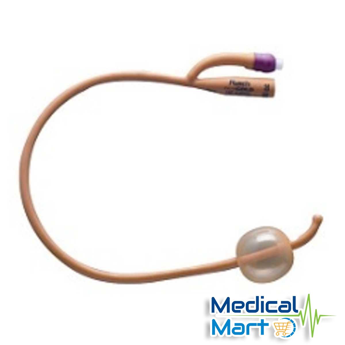 2-Way Balloon Foley Catheter, Purple, 22fr