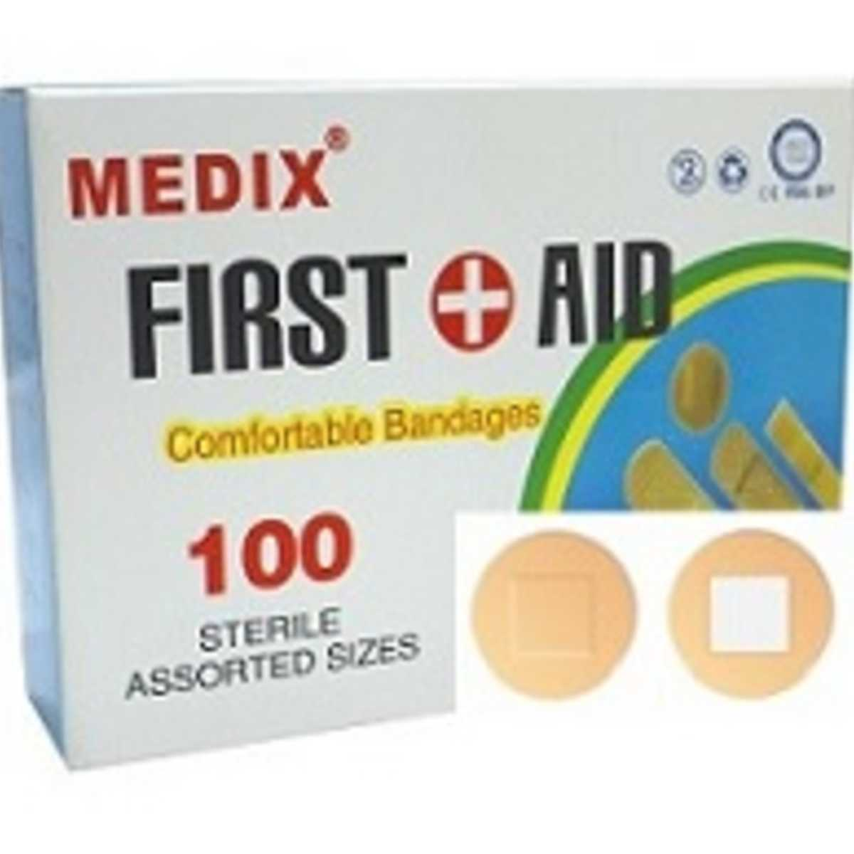 Medi x First Aid Plaster, Round Band-Aid