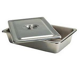 Stainless Steel Instrument Tray With Cover, Medium