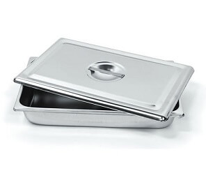 Stainless Steel Instrument Tray With Cover, Large