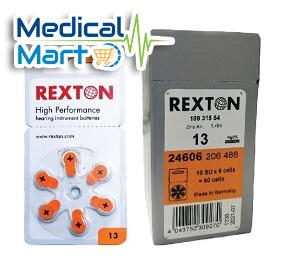 Rexton Hearing Instrumental Batteries, #13