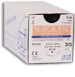 3/0 Surgicryl Monofast (Polyglecaprone 25)