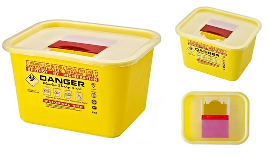 Sharps Disposal Container, 5 ltr.
