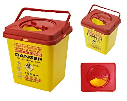 Sharps Disposal Container, 2 ltr.