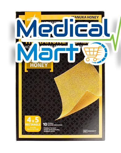 TheraHoney Sheet, Honey Impregnated Wound Dressing, 10.2 x 12.7cm