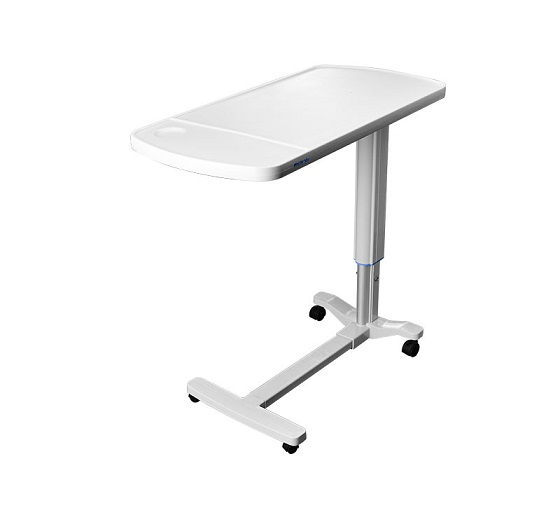 Overbed Table with Height Adjustable for Patient Use