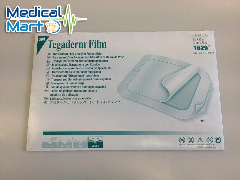 3M Transparent Film Dressing Frame Style 1629, 20x30 cm,
