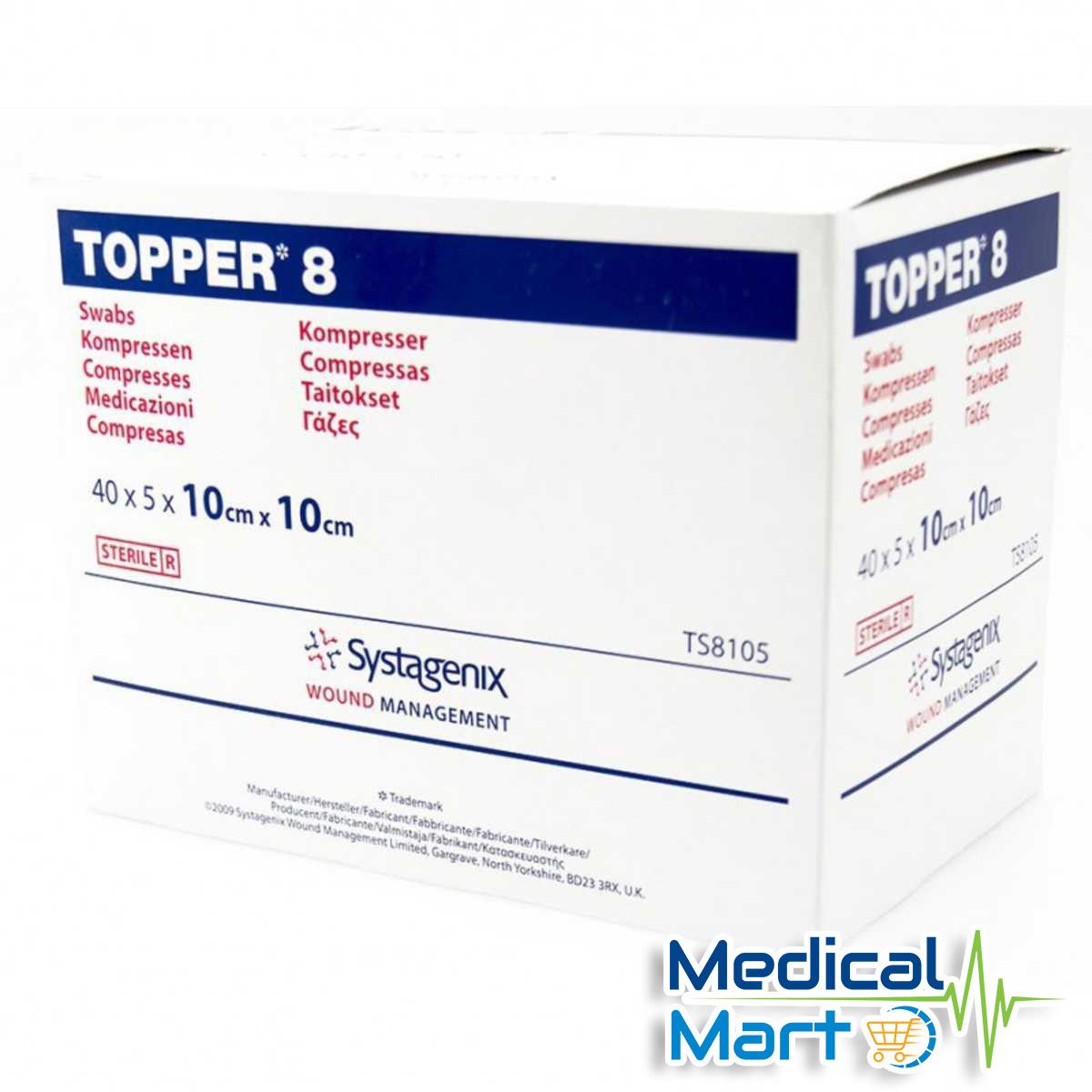 Topper 8 Sterile Gauze Swabs