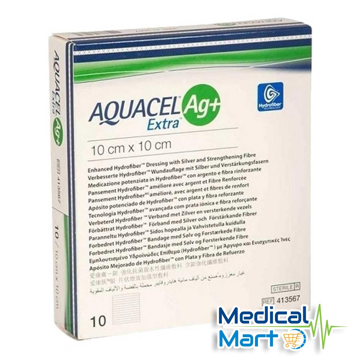 Aquacel Ag+ Extra 10cm x 10cm