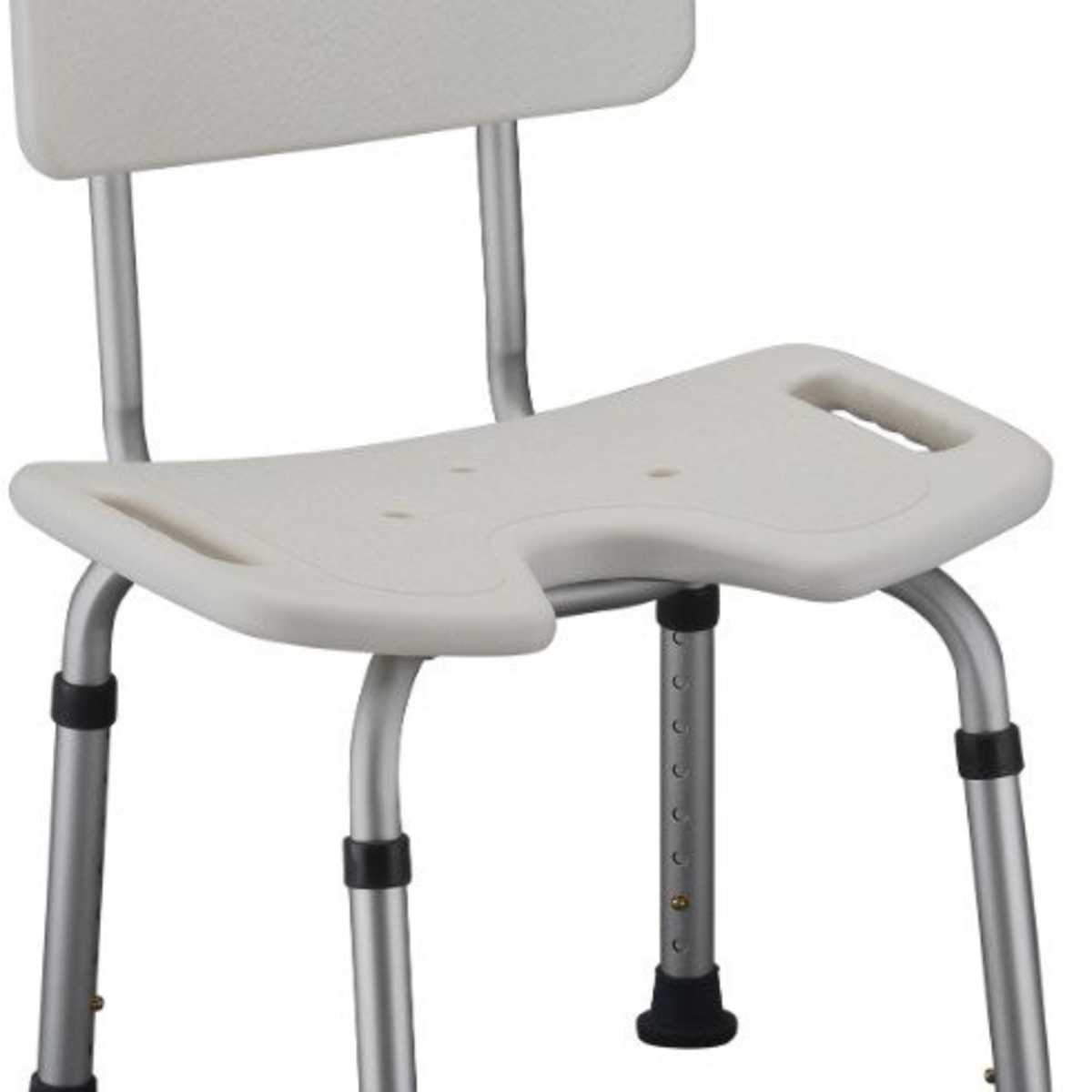 Bath Seat With Back- Hygenic U-Shape Seat
