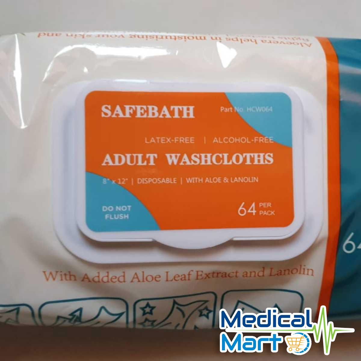 Safebath Adult Washcloths