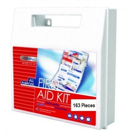 All Purpose First Aid Kit, 50 Person (163 Pieces)