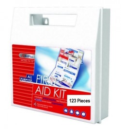 All Purpose First Aid Kit, 25 Person (123 Pieces)