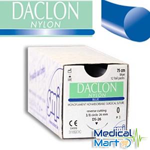 Daclon Nylon, Blue, Surgical Suture (75cm)
