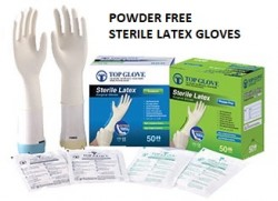 6.5 Sterile Latex Surgical Glove, Powdered Free