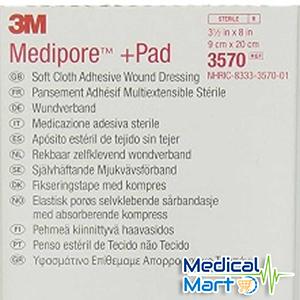 3m Medipore + Pad Soft Cloth Adhesive Wound Dressing, 3570 (10cm x 20cm)