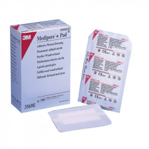 3m Medipore + Pad Soft Cloth Adhesive Wound Dressing, 3569e (10cm x 15cm)
