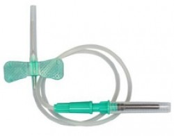 Blood Collection Set With Luer Adapter, 21g x 3/4 Inch