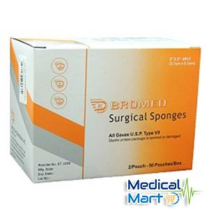 Sterile Surgical Sponges, 7.6cm x 7.6cm - 8ply