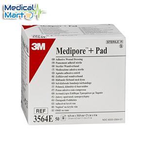 3M Medipore +Pad Soft Cloth Adhesive Island Wound Dressing 3564 E (6x10cm)