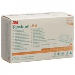 3m Tegaderm + Pad Transparent Dressing With Absorbent Pad 3584