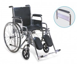 Steel Wheelchair With Elevating Leg Rest